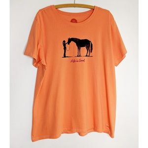 NWOT Life Is Good Horse Crusher Shirt XXL